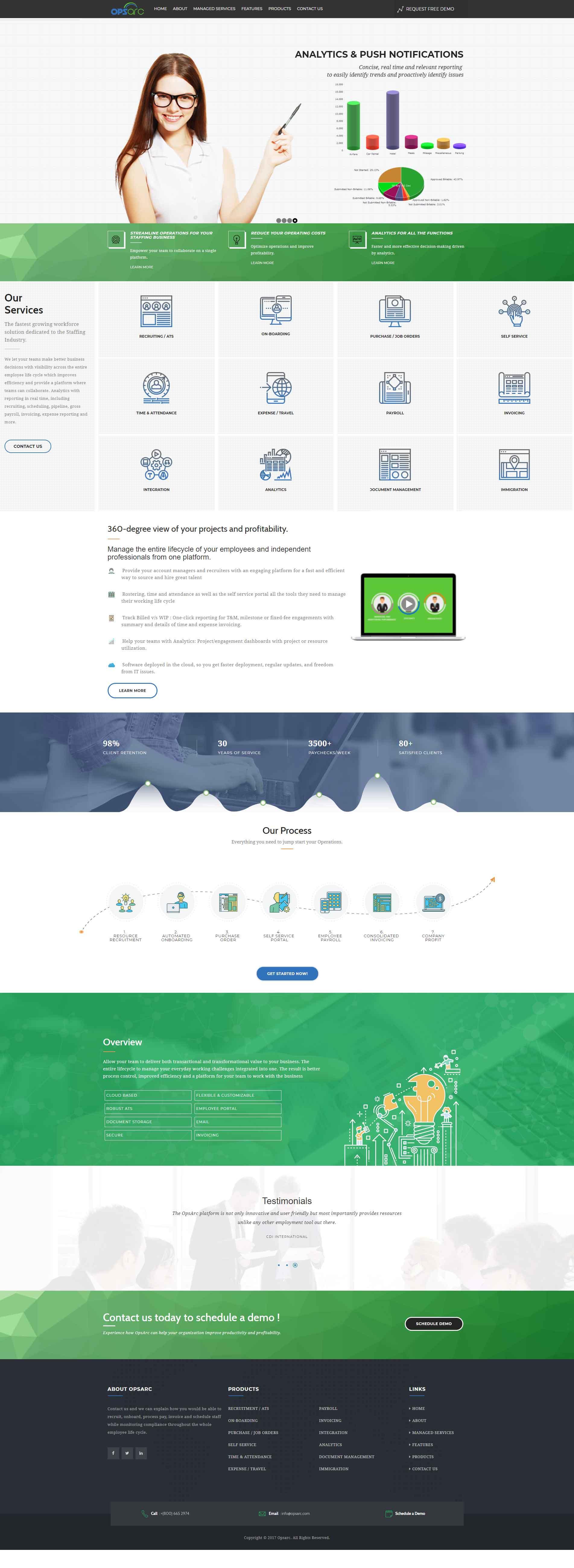 Staffing solutions web application design 5 bk website - Web application home page design ...