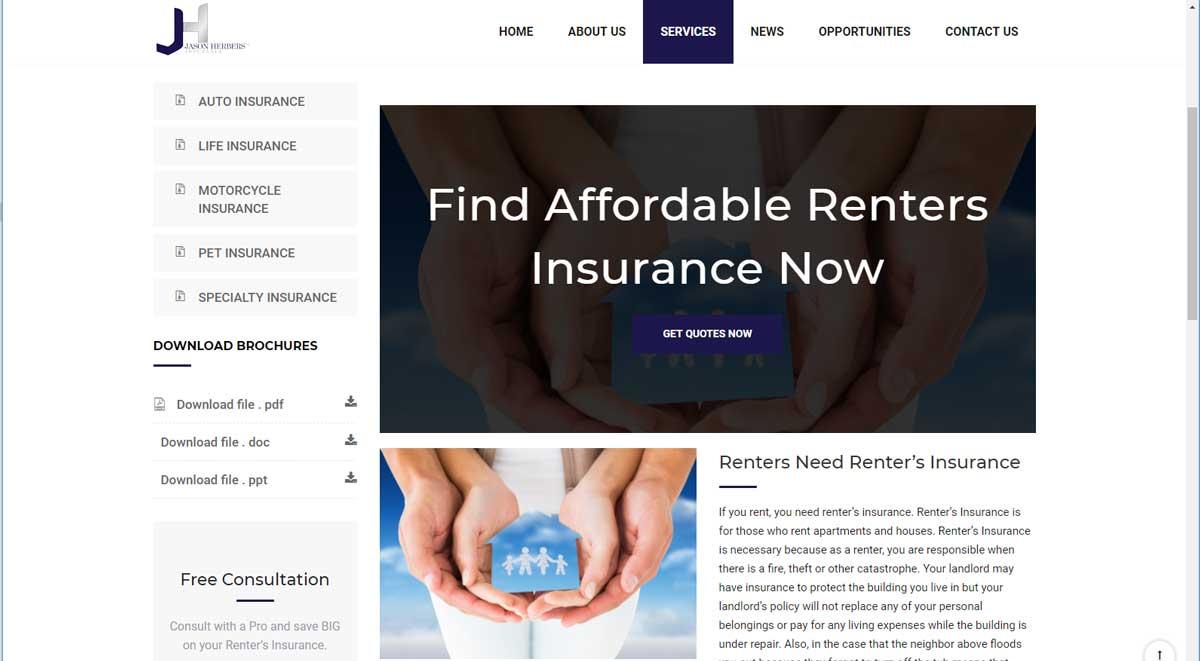 Herbers Health Insurance Company Website Design 4 | Bk ...