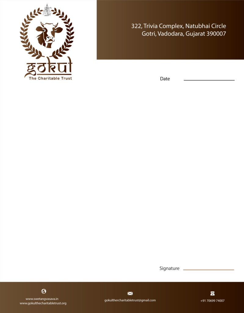 gokul-the-charitable-trust-letterhead-design | Bk Website